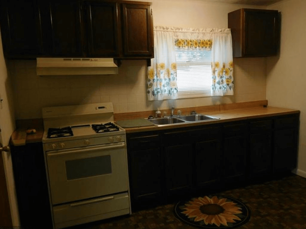 Kitchen before purchase.